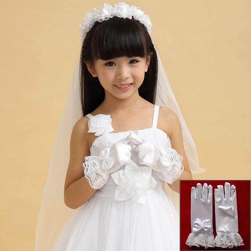 Giá bán Trẻ em găng tay Phụ Kiện Trang Phục Trẻ Em Bé Gái Ren Trắng Tay Găng Tay Free Size