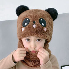 Mũ Trẻ Em Mùa Đông Mũ Dệt Kim Mũ Hoạt Hình Lông Cừu Ngoại Cỡ Cho Bé Gái Khăn Quàng Mặt Mũ Trẻ Em Mũ Tai Mèo Dễ Thương Cho Trẻ Em