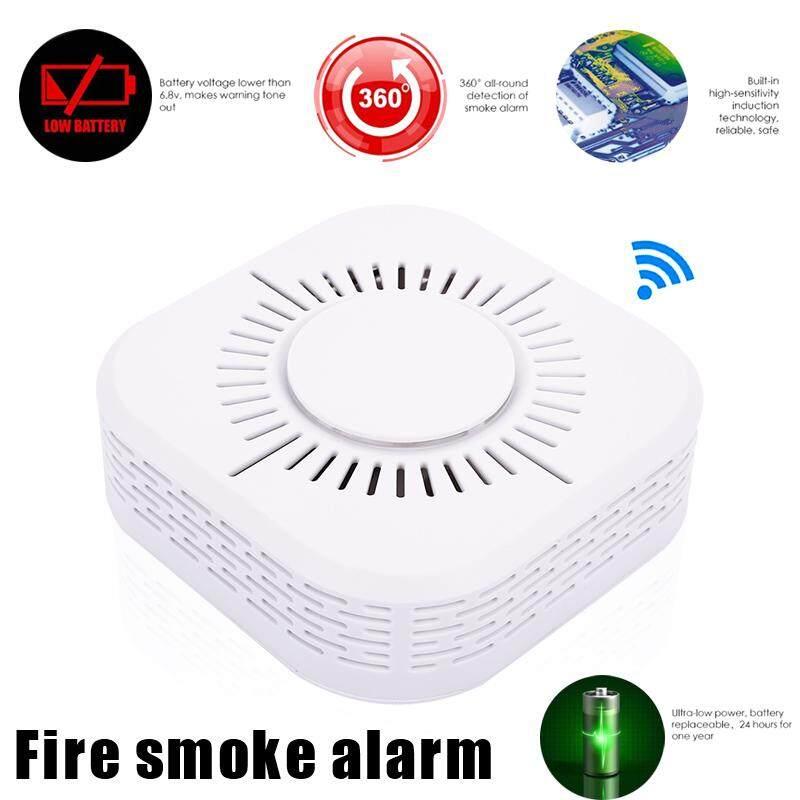 BGDG High Sensitive Smoke Alarm Sensor 360 Degrees Voice Warning Smoke Alarm Detector Universal Fire Alarm 433MHz Fire Sensor Security System Smoke Detector Wireless Smoke Detector