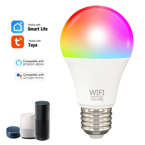 Bóng Đèn WiFi Thông Minh Fcmila TY009, Bóng Đèn LED Đổi Màu RGB Tương Thích Với Alexa/Google Home/Tmall Genie No Hub Yêu Cầu E27 Nhiều Màu Tuya/Smart Life APP Control