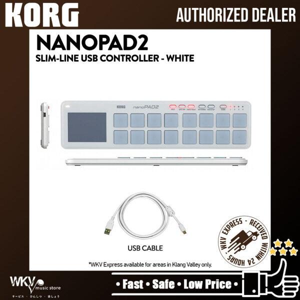 Korg nanoPAD2 Slim-Line Pad Controller USB MIDI Pad - White (nano PAD 2) Malaysia
