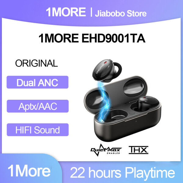 Original 1MORE EHD9001TA TWS Noise Cancelling Hybrid Bluetooth 5.0 Earphones,Support aptX / AAC HiFi Wireless Charging Fast Charging Singapore