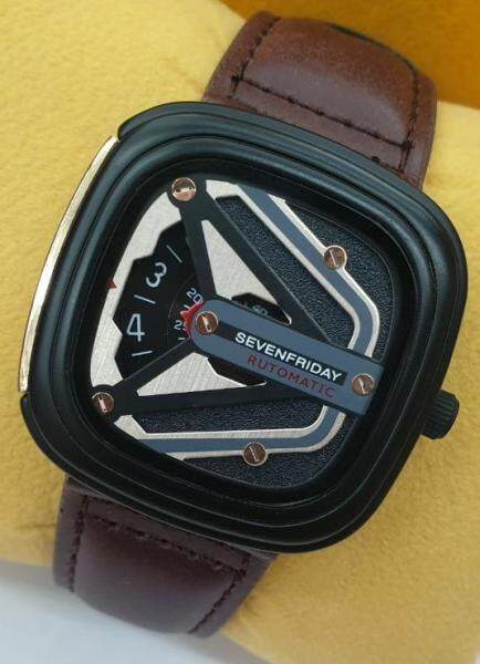 Seven_Friday_Quartz Fashion Watch for Men Women Good Quality Leather With Gift Box Malaysia