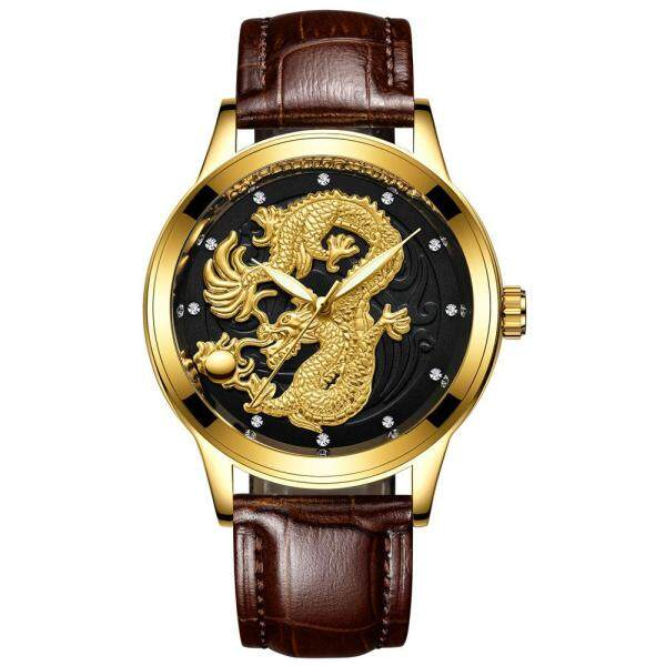 [RAYA SALE] FNGEEN DRAGON GOLD WATCH 3D STAINLESS STEEL WRISTWATCH WATERPROOF LUXURY WATCHES Malaysia