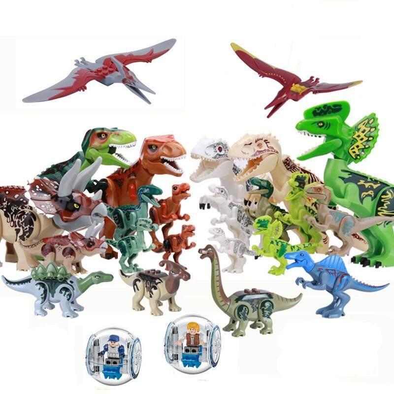 16 ชิ้นต่อชุดไดโนเสาร์ยุคจูราสสิก Park World ตัวเลขบล็อกตัวต่อ Diy Legoing บล๊อคตัวต่อของเล่นสำหรับของขวัญวันเกิดของขวัญ By Qiyuwanju Shangdian.