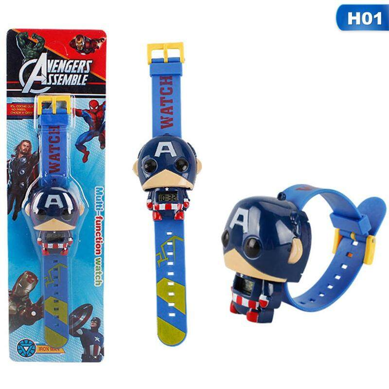 BZY Movies Avengers Heros Model Children Boys Electronic Watches Toys Malaysia