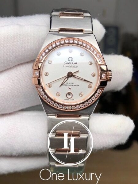 [ONE LUXURY] CONSTELLATION LADIES 29MM SILVER DIAL 18K ROSE GOLD Malaysia