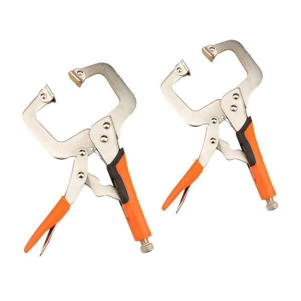 MagiDeal 2pcs 6in & 9in C Clamp Vise Grip Locking Regular Tip Multi Pincers Tongs
