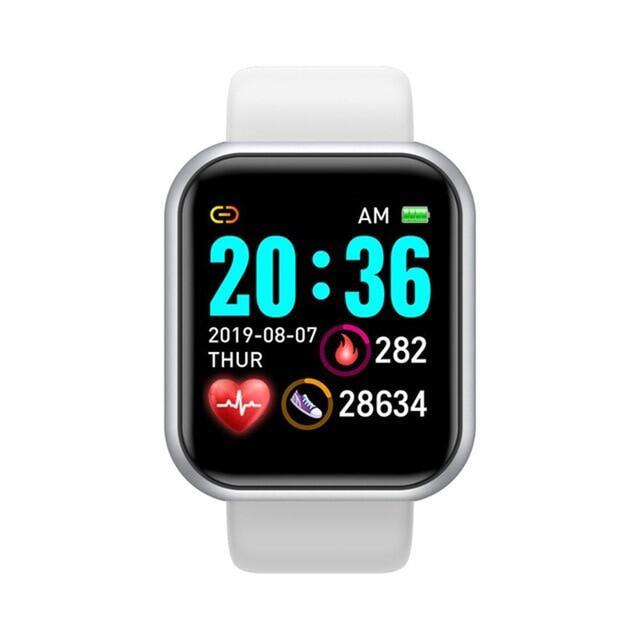 2021 Y68 D20 Thông Minh Đồng Hồ, Vòng Tay Theo Dõi Sức Khỏe Huyết Áp Cho Nam Nữ Thể Thao Smartwatch Đồng Hồ Thông Minh Android IOS Chống Nước