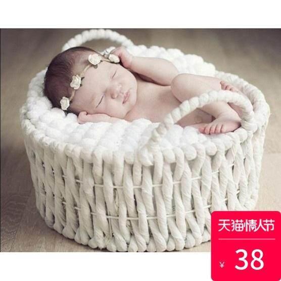 Product Photographic Prop/Studio Supplies/Studio Props/Children Basket/Baptism Basket Infant Basket Baby Basket