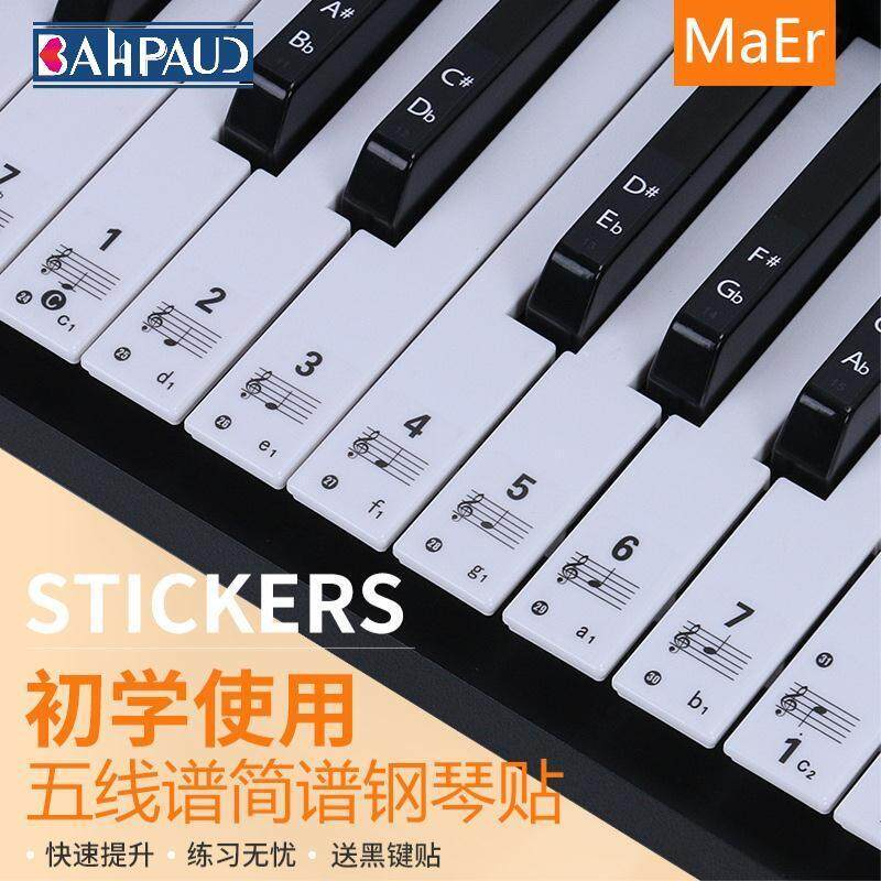 Bahpaud Piano Keyboard Stickers Keyboard Digital Staff Notation Music Notes Phonetic Paper Malaysia