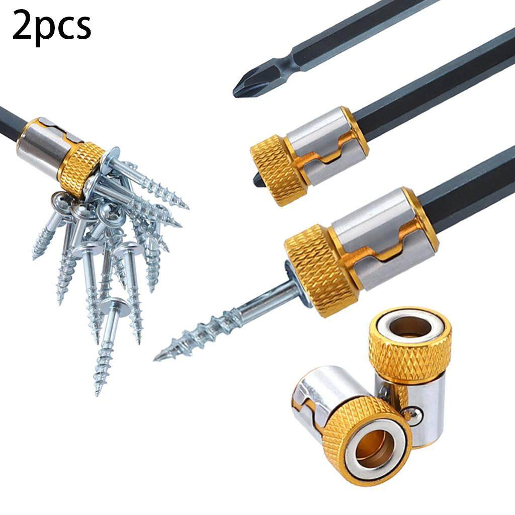 Wo Bang 2xUniversal Removable Magnetizer Ring Magnetic Steel For 6.35mm Screwdriver Bits