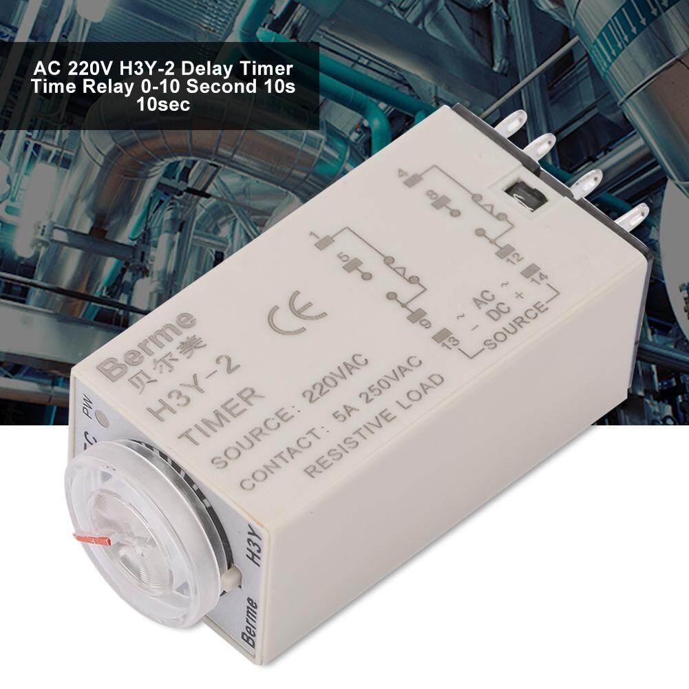 AC 220 V H3Y-2 Timer Penundaan Waktu Relay 0-10 Detik 10 S 10sec