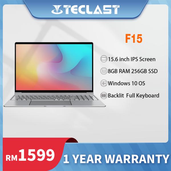 Teclast F15 laptop  murah/15.6 inch IPS screen/8GB RAM 256GB SSD/Windows 10/Intel Celeron N4100 /Backlit Full Keyboard/1 year warranty/Installment LAPTOP MURAH Malaysia