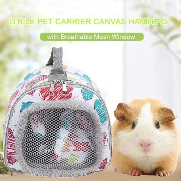 Hamster Carrier Guinea Lợn Túi Xách Nhím Túi Đựng Sóc Thỏ Túi Vải Du Lịch Nhỏ Gọn Với Cửa Sổ Lưới Thoáng Khí