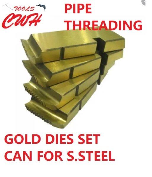 (1/2-3/4) (1-2) (2-1/2-3) HELLO HSS GOLD PIPE THREADING MACHINE DIES DIE CONDUIT GI MCC REX TIDEWAY ASADA EZYLIF