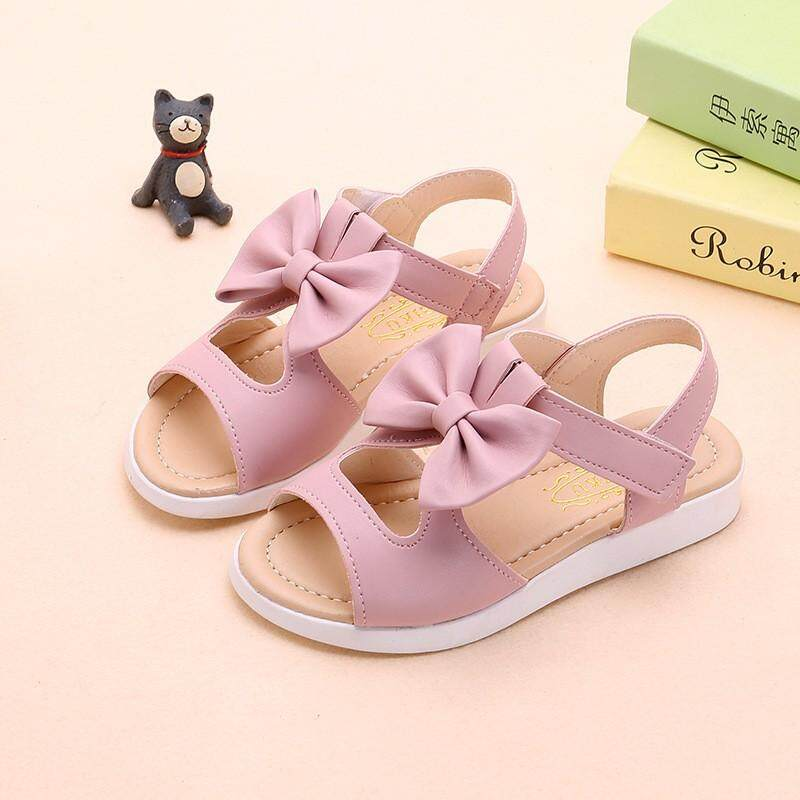 Pu Sandals Bow Baby Shoes Fashion Summer Pu Bow Baby Girl Sandals Beach Sandals By Babyqt.