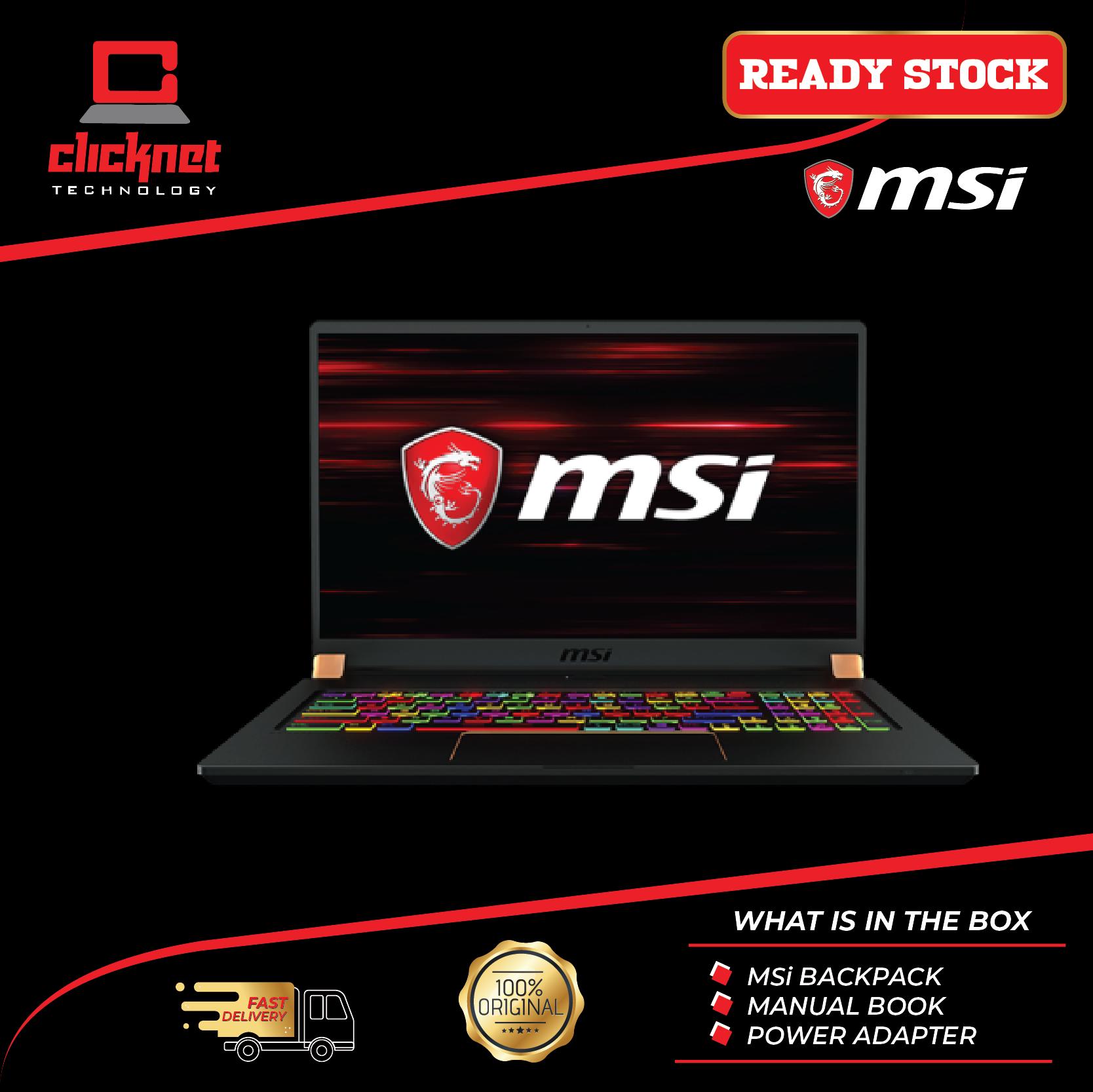 MSI GS75-9SE-471 17.3  FHD IPS 144Hz Gaming Laptop (i7-9750HQ 16GB 1TB SSD RTX 2060 6GB 17.3FHD W10) Malaysia