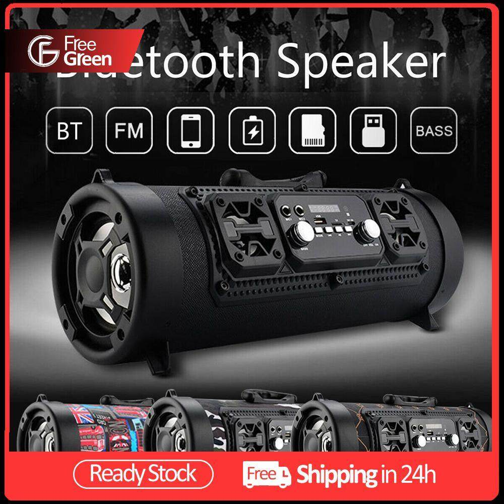 FreeGreen Portable Bluetooth Speaker Hifi FM Radio Motion KTV 3D Wireless Surround Sound Unit TV Sound Bar Subwoofer 15W Outdoor Speaker Malaysia