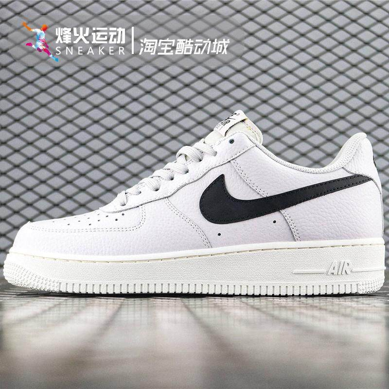 02b3a192d8b4f Nike Air Force1 men's shoes white black hook AF1 small stars classic trend  casual sports shoes