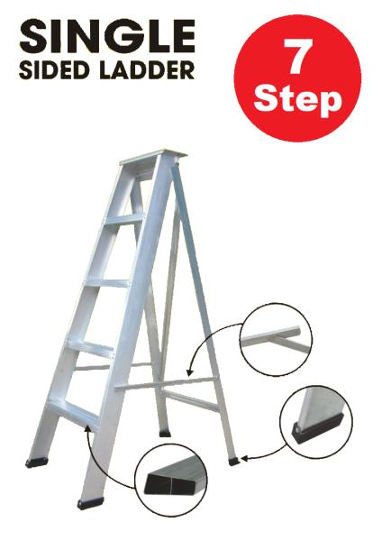 7 Steps Aluminum Single Sided Ladder