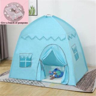 Lều trẻ em lớn có thể gập lại Lều công chúa Castle Lều trẻ em chơi nhà không gian rộng thích hợp cho chơi trong nhà và ngoài trời với lều và đường hầm thumbnail
