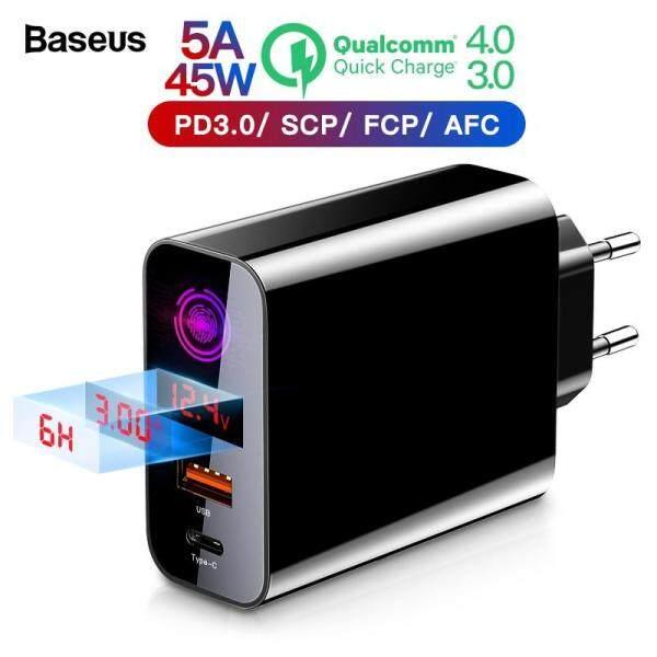 Baseus Sạc nhanh 4.0 3.0 Bộ sạc USB cho iPhone Xiaomi Samsung Huawei SCP QC4.0 QC3.0 QC C PD Bộ sạc điện thoại di động tường nhanh