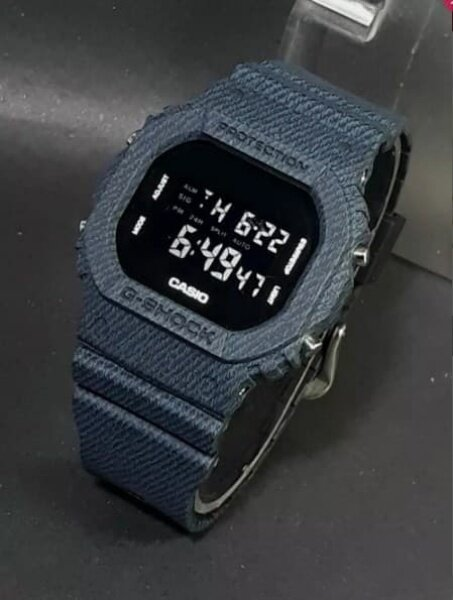 Casio G Digital Shock Jeans Gaya Dark Blue Version Petak Malaysia