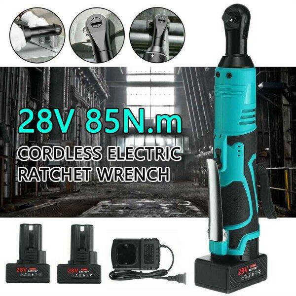 3/8 28V 90° 85Nm Electric Cordless Right Ratchet Angle Wrench Tool