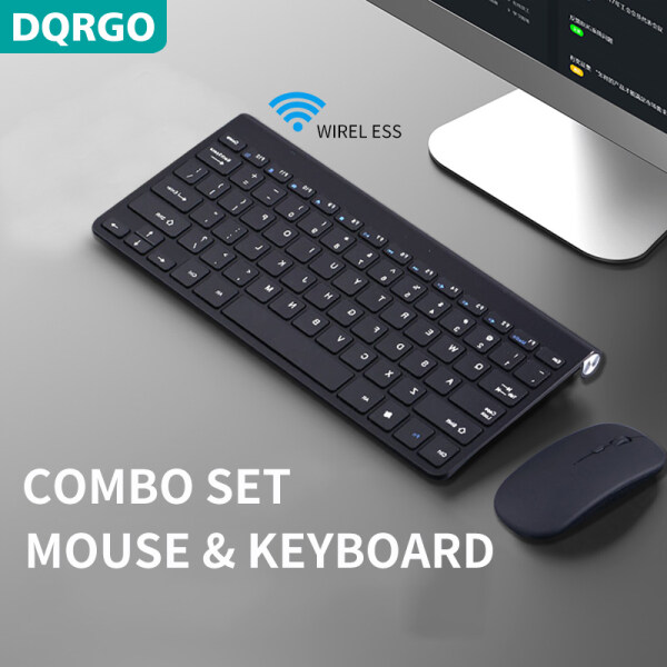 DQRGO wireless keyboard and mouse combination portable mini keyboard and mouse kit, 2.4 GHz wireless, suitable for notebook computers, desktop computers Malaysia