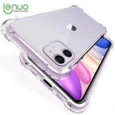 Ốp lưng Lenuo chống sốc trong suốt cho iPhone 12 mini / 12 Pro Max SE 2020 11 Pro Max XS MAX XR X 8 7 6s Plus, Vỏ sang trọng trong suốt silicone cho iPhone 11 Pro XS MAX XR X