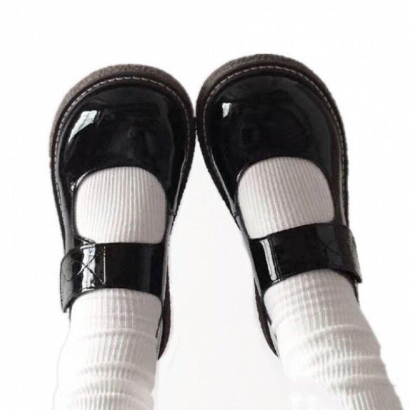 Hiển Thị Giày Cơ Bản Lolita Giày Có Thể Tháo Rời Bowknot Mềm Em Gái Ngón Chân Cái Giày Nữ Phong Cách Đại Học Mũi Tròn Jk Giày Da Nhỏ giá rẻ