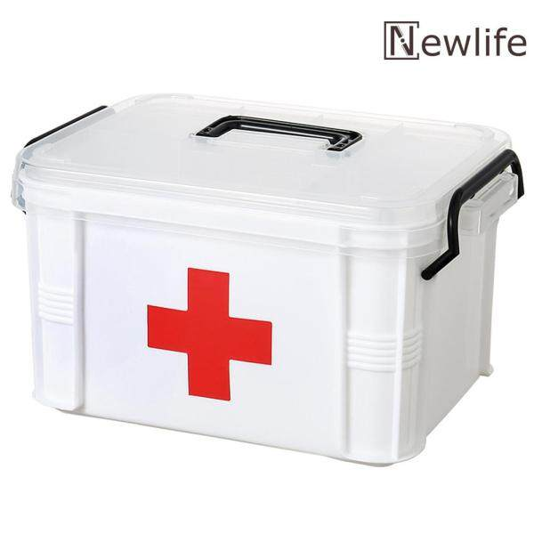 Plastic Multi-layer Medicine Chest Emergency Kit Portable First Aid Drug Storage Box Family Supply