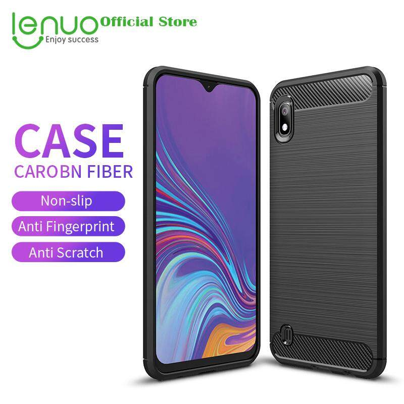 Lenuo Soft Case for Samsung Galaxy A10 Carbon Fiber Silicone Cases Brushed Anti-knock Cell
