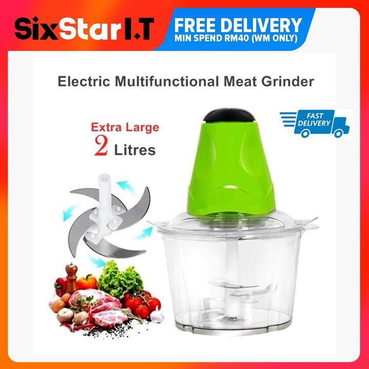 Multipurpose Electric Meat Grinder Mincer Chopper Blender/grinder Meat And Vegetables By Sixstar It.