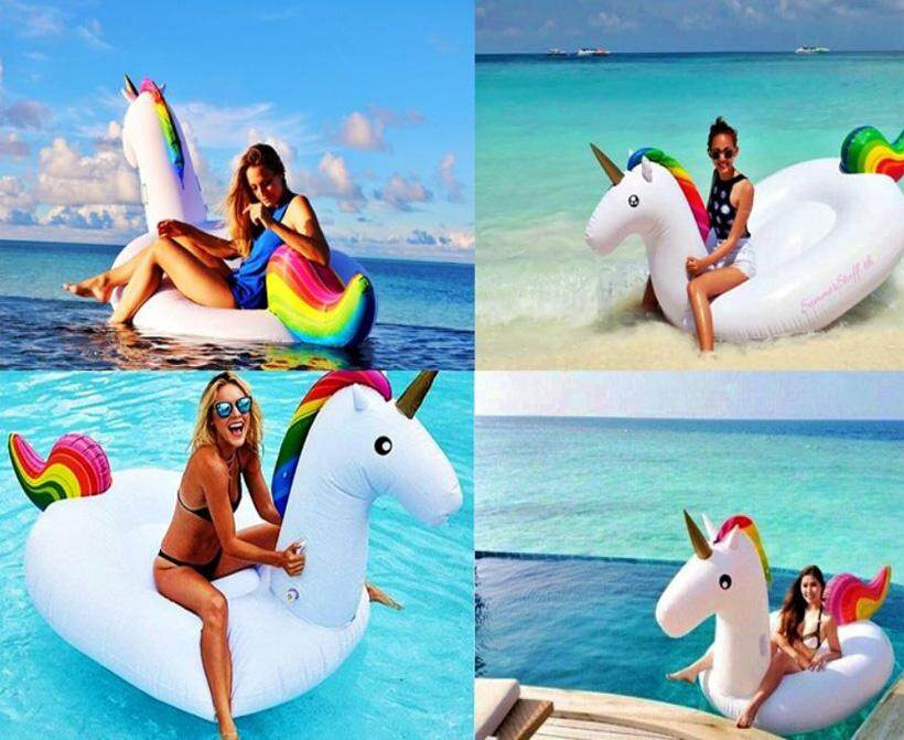 Sentexin Unicorn Pool Party Swimming Float Lounge Float Inflatable Raft Tube By Sentexin.