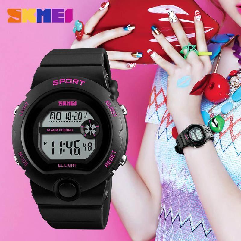SKMEI Fashion Digital Watch Women Outdoor Sport Watch Ladies Calendar Chronograph  Waterproof Wristwatch Alarm Clock 1334 Malaysia