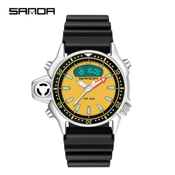SANDA New Fashion Sport Men Quartz Watch Casual Style Military Watches Men Waterproof S Shock Male Clock relogio masculino 3008 Malaysia