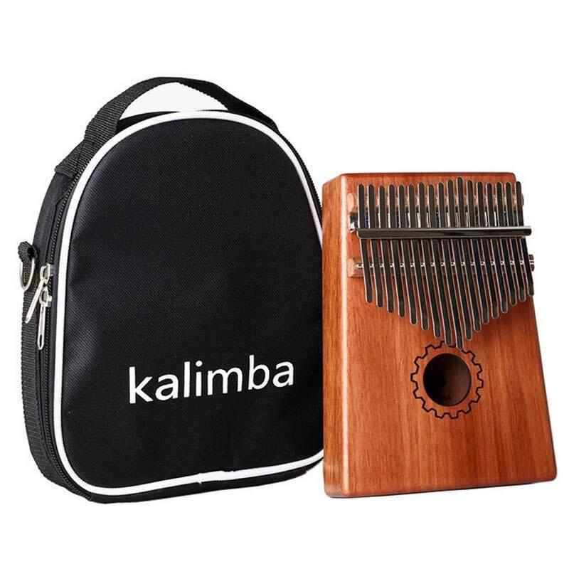 NiceToEmpty 17 Key Kalimba Thumb Piano Pocket Thumb Piano Mahogany Body,Finger Percussion Keyboard with Instruction and Tune Hammer Malaysia