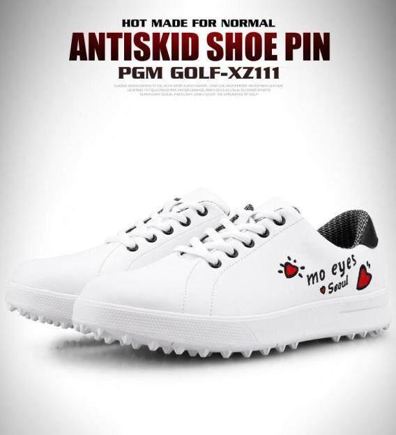 2019 Mới Giày Chơi Golf Nữ Không Thấm Nước Phong Cách Hàn Quốc Giày Trắng Phong Cách Tự Do Sợi Nhỏ Mềm giá rẻ