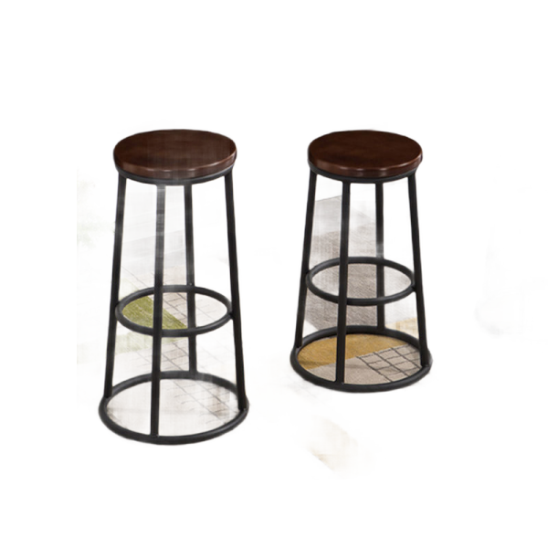 The bar chair stool contracted mobile phone shop business hall high stool KTV bar stools, wrought iron wood bar stool