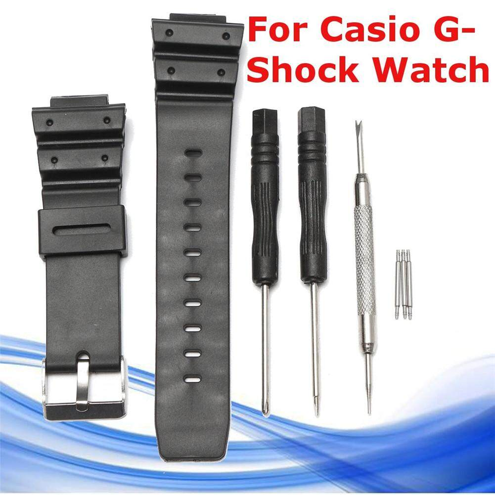 KR 25MM Black Matte Silicone Watch Band Watch Strap & Repair Tool For CASIO G Shock Series Malaysia