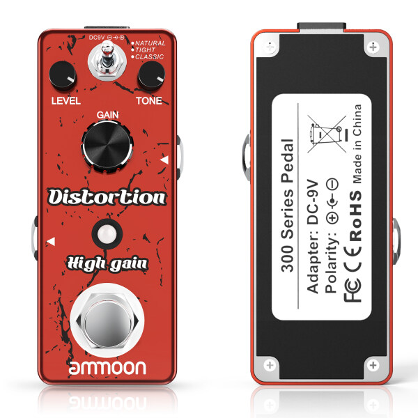 ammoon High Gain Distortion Guitar Effect Pedal 3 Working Modes with Volume Tone Gain Controls True Bypass Full Metal Shell Malaysia