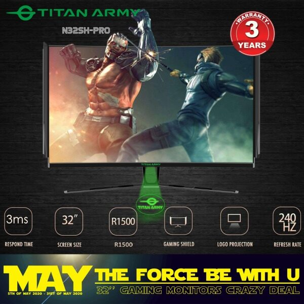 TITAN ARMY 32  1500R Curved 240hz Monitor with Gaming Shield (N32SK-PRO) Malaysia