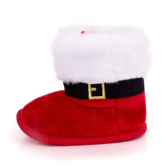 Giày Giữ Ấm Giáng Sinh Cho Bé Trai Và Gái, Bốt Đi Tuyết Mềm, Đế Chống Trượt, Ấm Áp, Dành Cho Mùa Đông, Mùa Đông, Mùa Đông giá rẻ