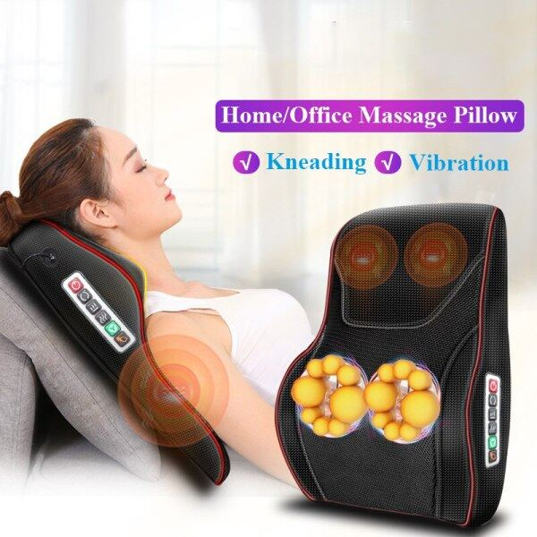 Buy 3D Electric Massage Pillow Vibrator Lengthening Design Infrared Therapy Muscle Relaxation Neck Back Leg Body Massager Singapore