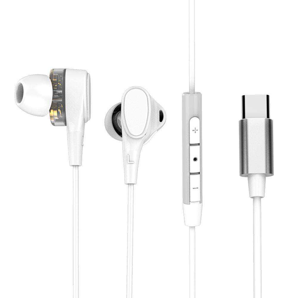 121feaec434 Product details of niceEshop USB/Type C Earphones,Type C Dual Dynamic  Drives in Ear Headphones with Mic,Strong Bass & Noise Cancelling Earphones  for Huawei ...