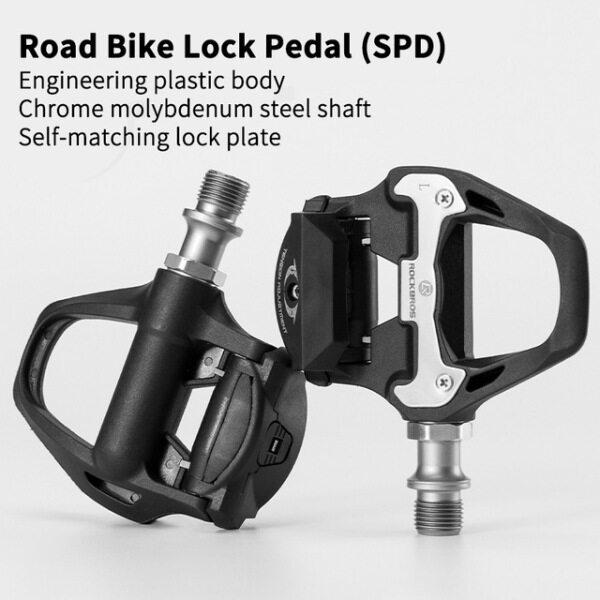Phân phối ROCKBROS SPD-SL Cycling Road Bike Xe Đạp Tự Khóa Bàn Đạp Siêu Nhẹ Hợp Kim Nhôm 2 Kín Mang Xe Đạp Pedal Bike Phần