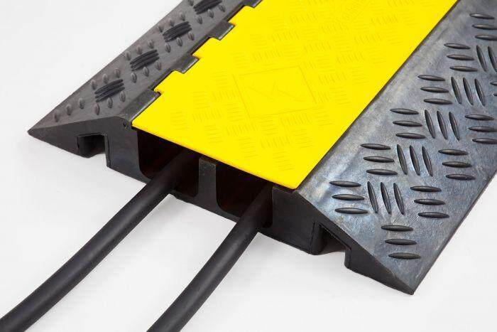 Rubber Safety Cable Cover Protector Floor Ramp 2 Channel