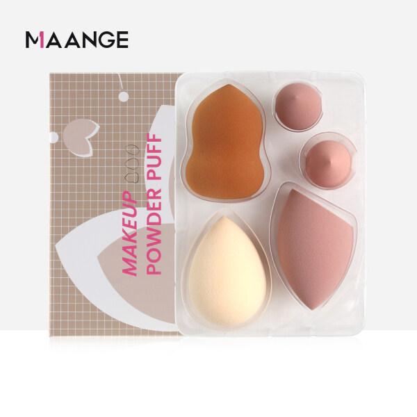 Set 5 miếng mút trang điểm MAANGE dùng tán kem nền chuyên nghiệp - INTL cao cấp